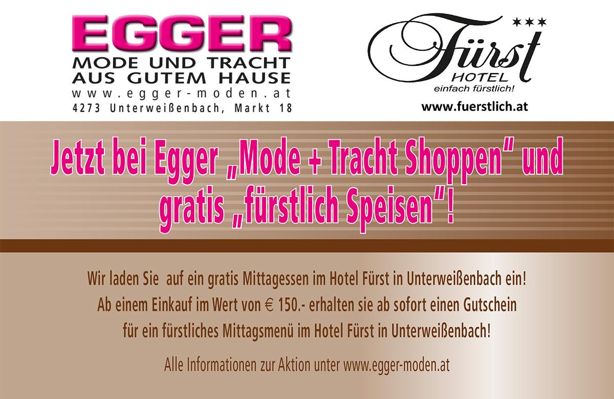Egger Shopping = fürstliches Mittagessen
